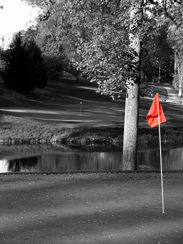 Golf course in black white by kelzpics