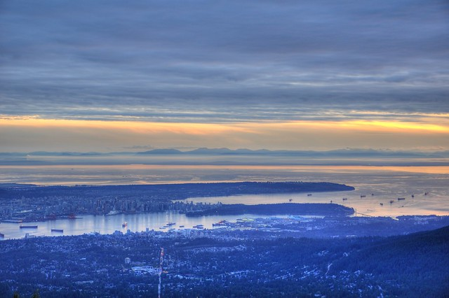 Vancouver's Natural Harbour from the Dog Mountain Bluffs
