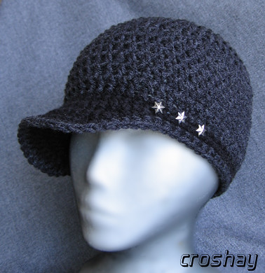 3star Beanie With Brim Crocheted Skull Cap Beanie Hat With Flickr