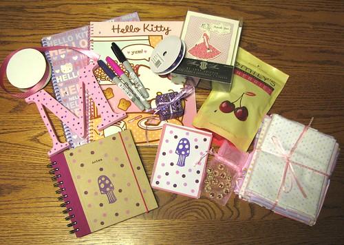 Sweetpea Swap - Pink & Purple Polka-dots