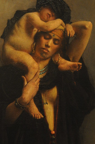 An Egyptian Peasant Woman and Her Child - Léon Bonnat | by ARTExplorer
