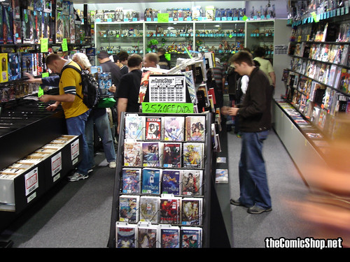 On with the masses at the Comic Shop birthday sale | by the Comic Shop