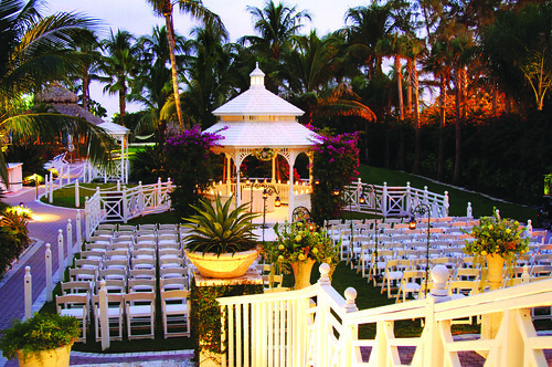 Ceremony Set-up at Wedding Gazebo | by thepalmshotel