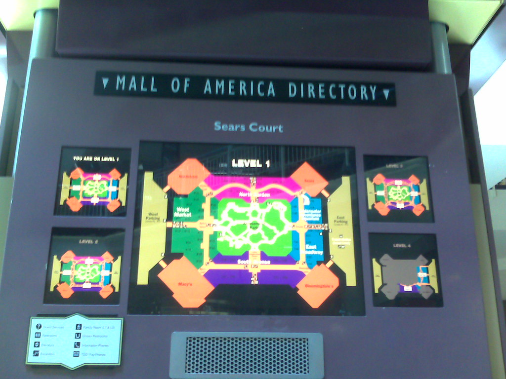 Directory map mall of america other dresses dressesss for Wedding dresses mall of america