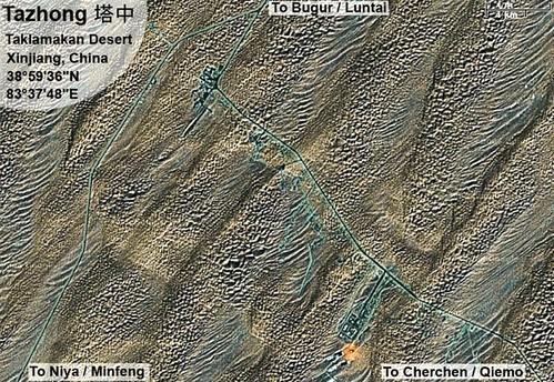 Tazhong Satellite Map Tarim Highway Taklamakan Desert C Flickr