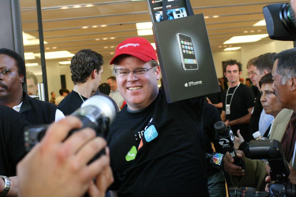 Apple iPhone Launch Palo Alto - Robert Scoble