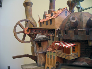 Howl's Moving Castle papercraft, detail | by benmillett