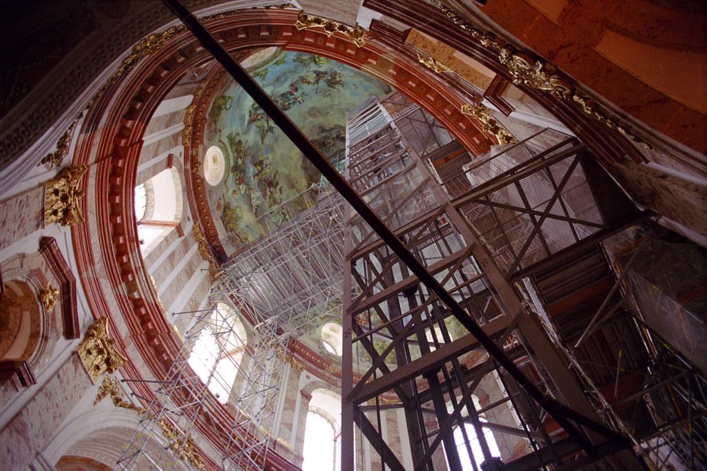 karlskirche interior with scaffolding 2 Viennas famous Flickr