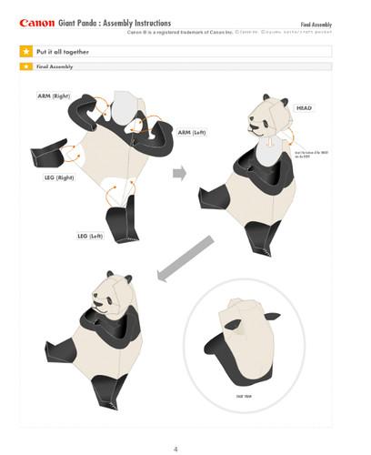Panda Paper Toy Instructions Sample