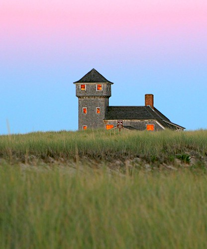 Cape Cod: Sunset At The Old Harbor Lifesaving Station