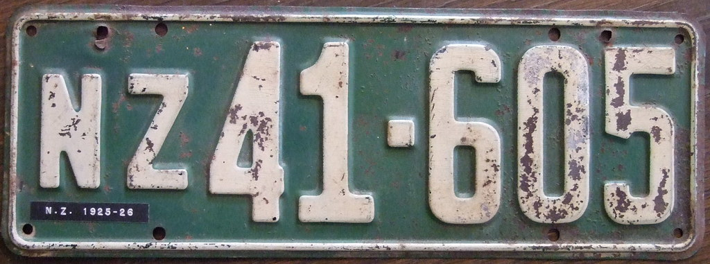 ... NEW ZEALAND 1925-26 number plate FIRST GOV\u0027T ISSUE | by woody1778a : antique number plates - pezcame.com