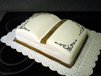 Open Book Cake For Library Author Day A Cake In The