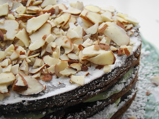 Mocha Almond Fudge Avocado Cake | by Vegan Feast Catering
