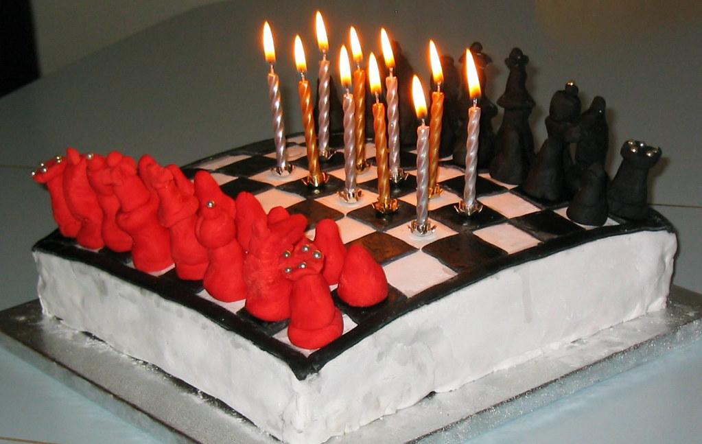 Chess Birthday Cake Sebs 10th Simonfallon Flickr