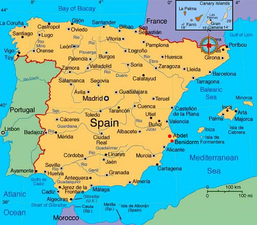 Spain Map | Spain Map: Now everyone can know where Mallorca … | Flickr