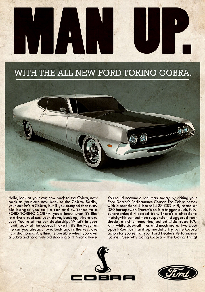 Ford Torino Cobra \'70 - vintage ad | Inspired by classic car… | Flickr