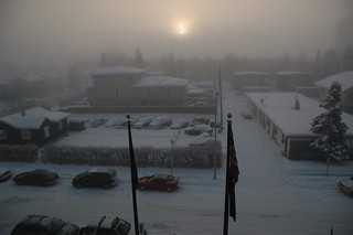 You think you have bad weather? the high point of the sun on a typical Anchorage day in the winter, Pioneer's Home, 4th floor view, Alaska, USA | by Wonderlane