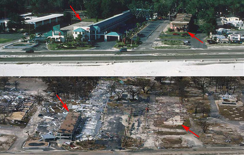 Before and After. Gulfport, Miss 2 Days After Katrina Land ...