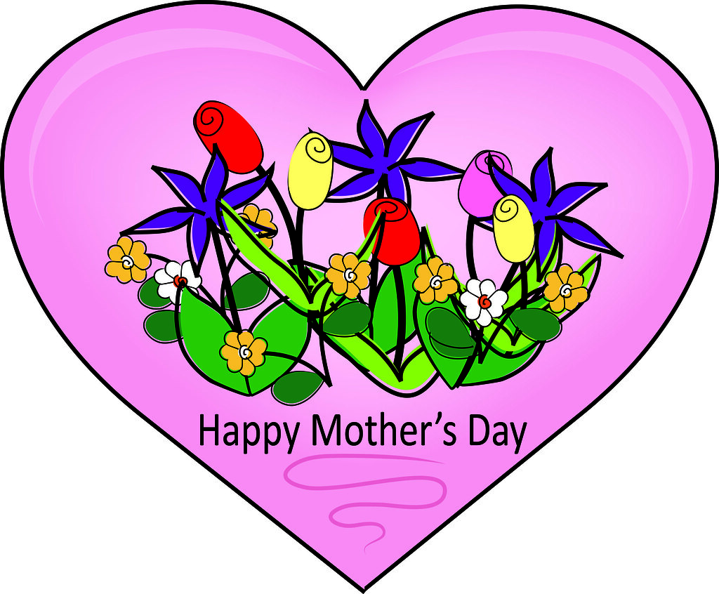 clip art illustration of a happy mother s day heart with f flickr rh flickr com mothers day clipart free mothers day clip art black and white