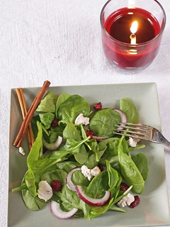 cranberry spinach salad | by Madison Bistro