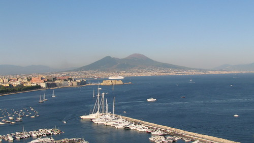 Vesuvius across the Bay of Naples | by jntolva