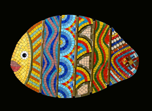 Salle de bain carnaval fish caillebotis pour salle de - Mosaique adhesive pour salle de bain ...
