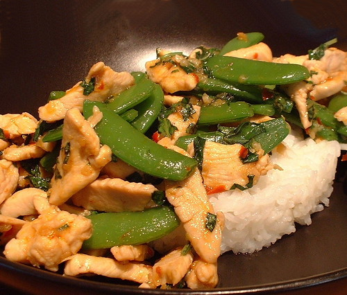 Chicken with Thai Basil and sugarsnaps | by FotoosVanRobin