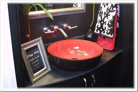 ... Powder Room Red Vessel Sink   By Champagne.chic