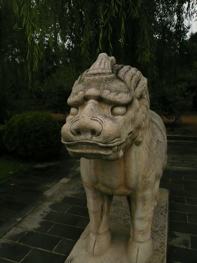 Unicorn statue, emperor\'s statue garden, Beijing, China.JP… | Flickr