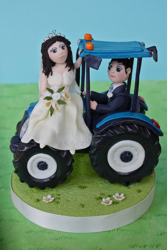 Tractor Wedding Cake Topper ..... | I made this a little whi… | Flickr
