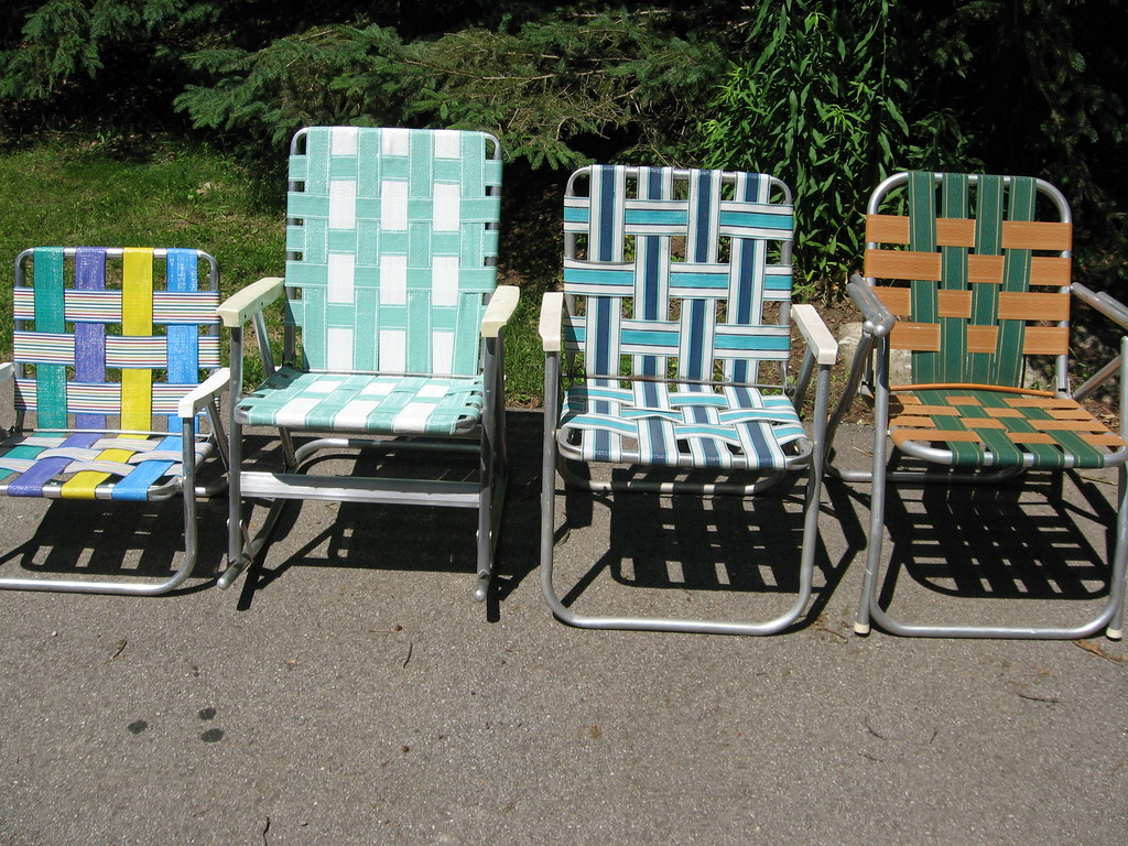 Vintage folding lawn chairs -  Vintage Aluminum Folding Lawn Chair By A Past Repurposed Furniture Accessories