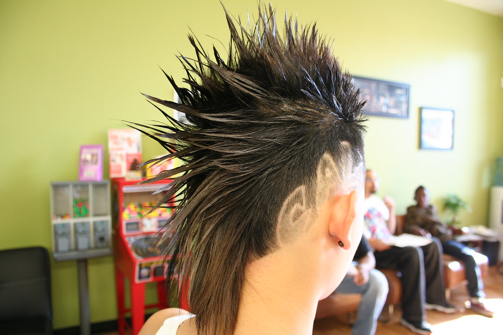 Mohawk Haircut With Design 1 Of 3 Contemporary Mohawk With Flickr