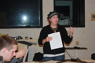 Kristin Burke conducts a workshop about costume design and on-set protocol | by The Big Muddy Film Festival