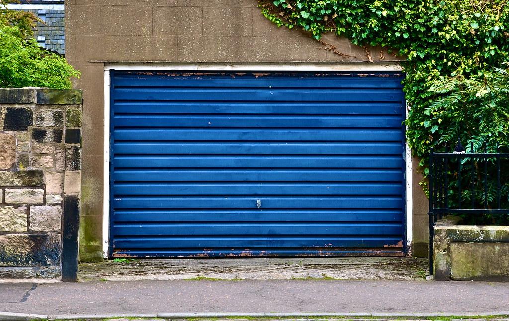 Blue Garage Door I Also Blog As Dorkymum Dorkymum Flickr