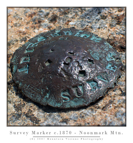 Original Colvin Survey Marker | by Mountain Visions