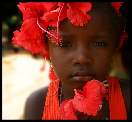 girl with red flowers | by LindsayStark