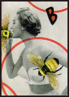 Bee Cup ACEO Collage | by dadadreams (Michelle Lanter)