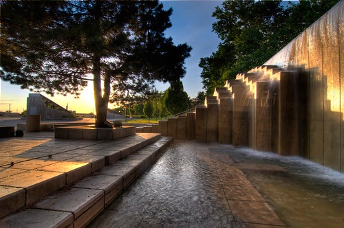 The Fountain at the Marriott Library Plaza | by The University of Utah