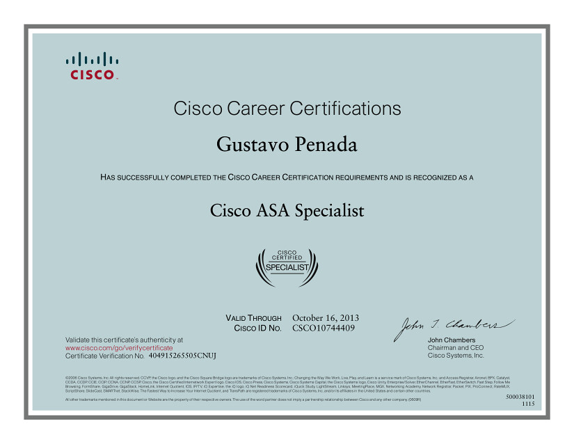 Cisco Asa Specialist Certificate Certificazione Cisco Asa Flickr