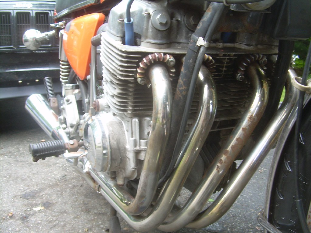 1975 Honda Cb750f Exhaust Headers Ive Owned Lots Of Sohc Flickr By Evanfell