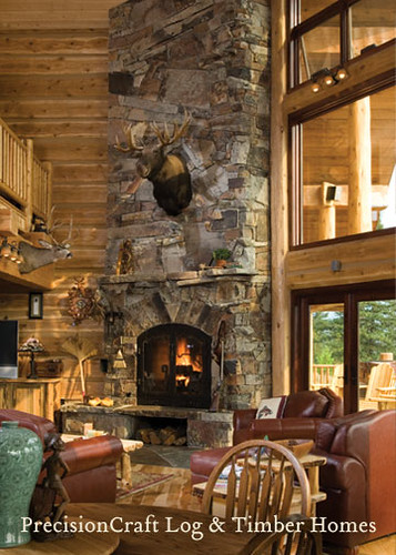Handcrafted Square Log Home Montana Log Home Precision