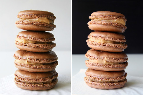 Chocolate Peanut Butter Macarons 2-in-1 | by Croquer a pleines dents