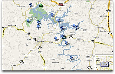 Center Hill Lake Tennessee Map.Map Center Hill Lake Tennessee Check Out Our Ride Map Fo Flickr