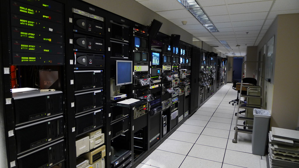 Long View of Server Room | A long view of our server room at… | Flickr