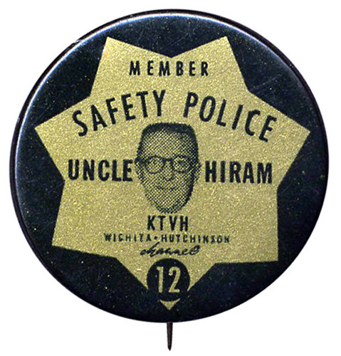 Uncle Hiram Safety Police Pinback Button | by Neato Coolville