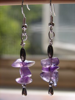 Amethyst Rock Candy earrings | by julz91