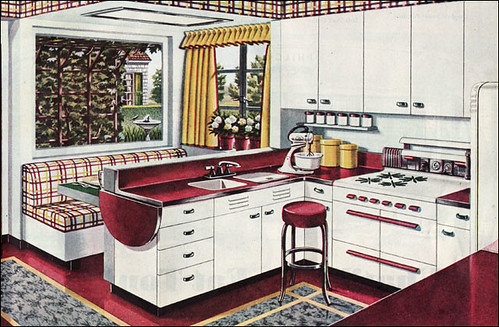 1945 American Gas Assn Breakfast Booth Kitchen | by American Vintage Home
