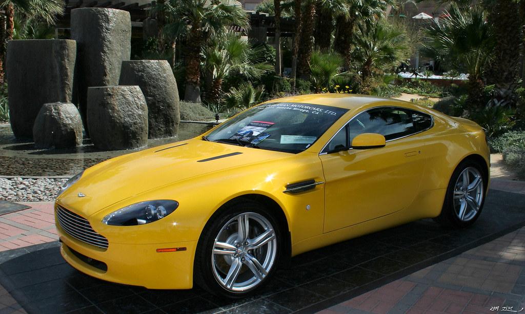 2008 Aston Martin V8 Vantage Yellow Fvl Palm Springs D Flickr