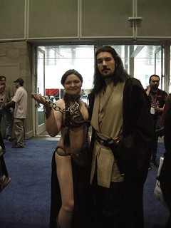 Slave Leia and Qui-Gon Jinn | by Doc_Brown