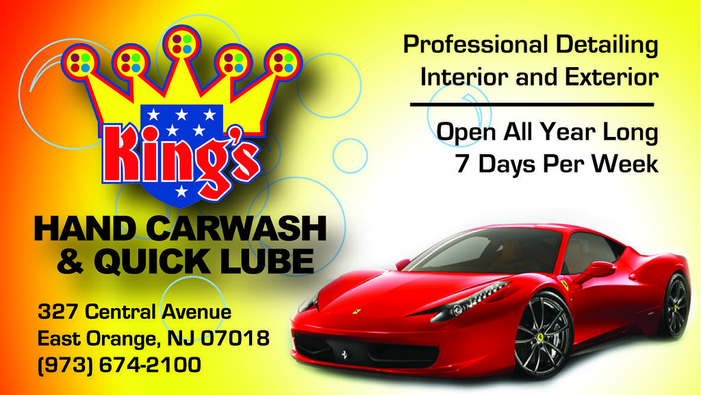 kings hand car wash business card by patrick_palugod - Car Wash Business Cards